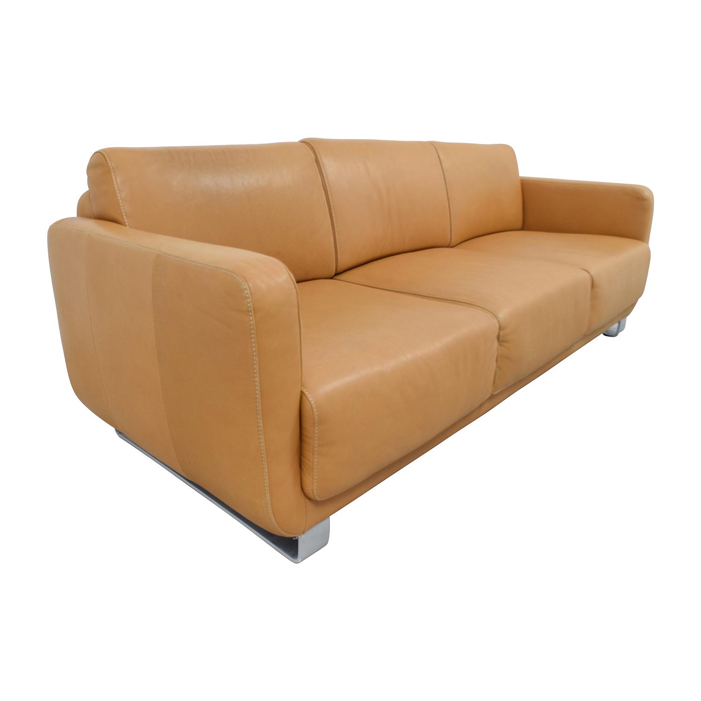 74 OFF W Schillig W Schillig Light Brown Leather Sofa