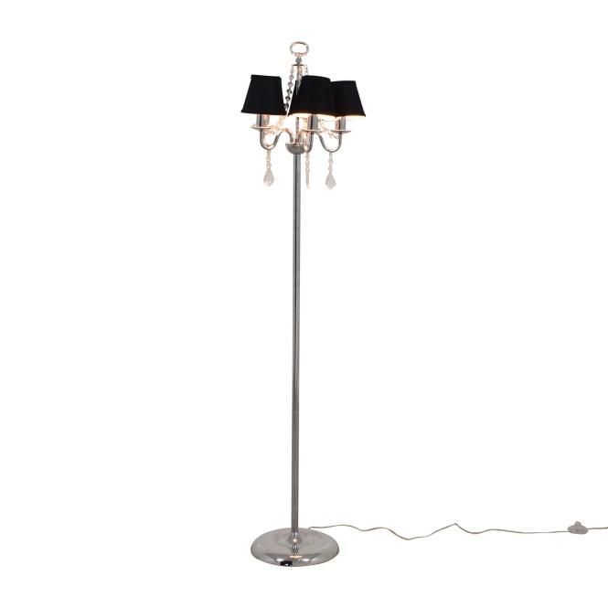 Black Chandelier Floor Lamp With Crystals Lamps