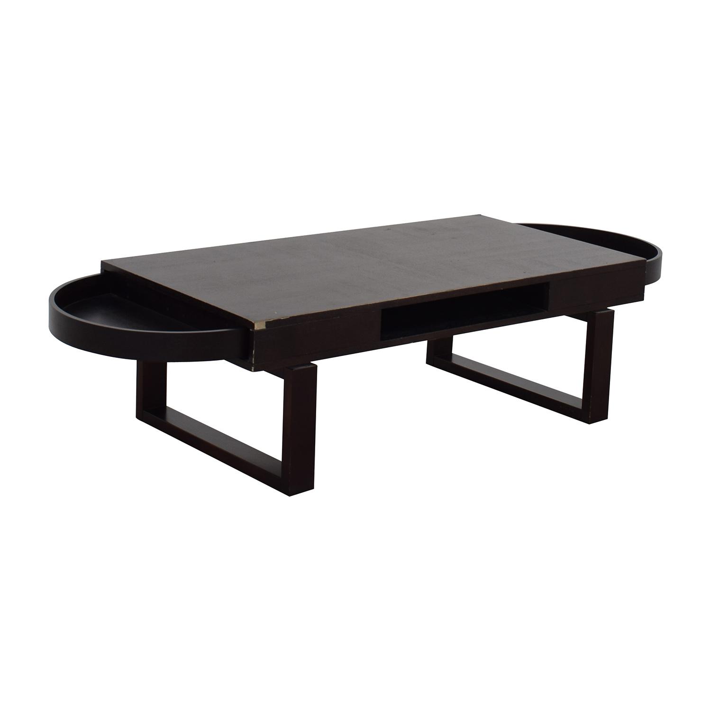 Dark Wood End Tables Drawers