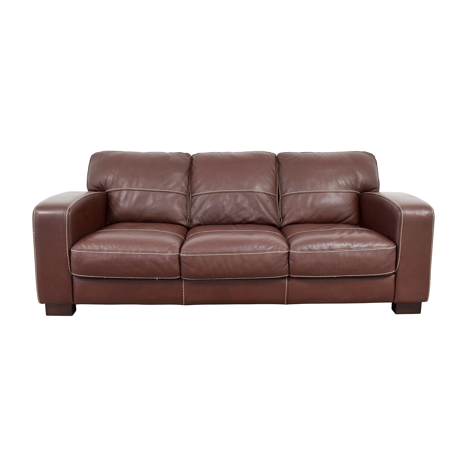 Brown Leather Loveseat Recliner