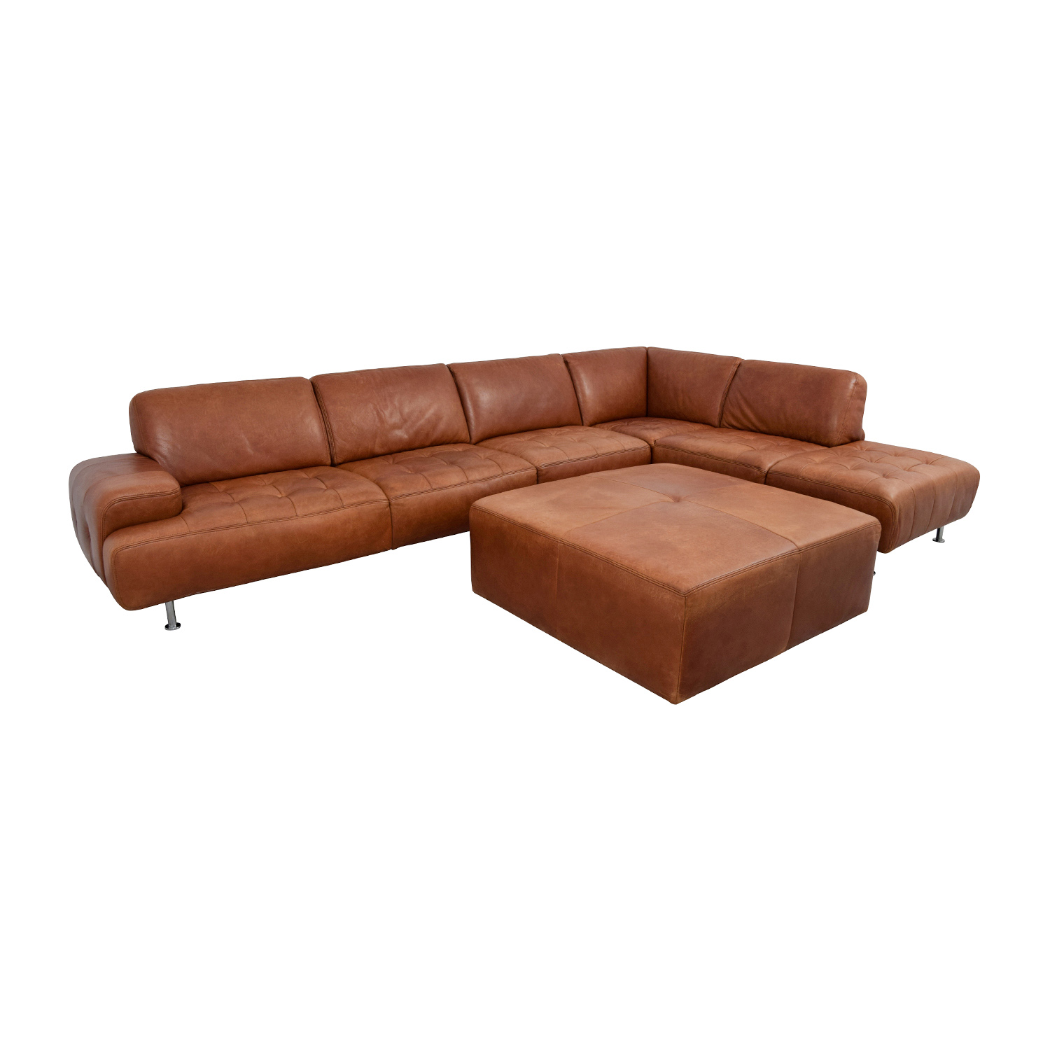 46 OFF W Schillig W Schillig Leather Sectional With
