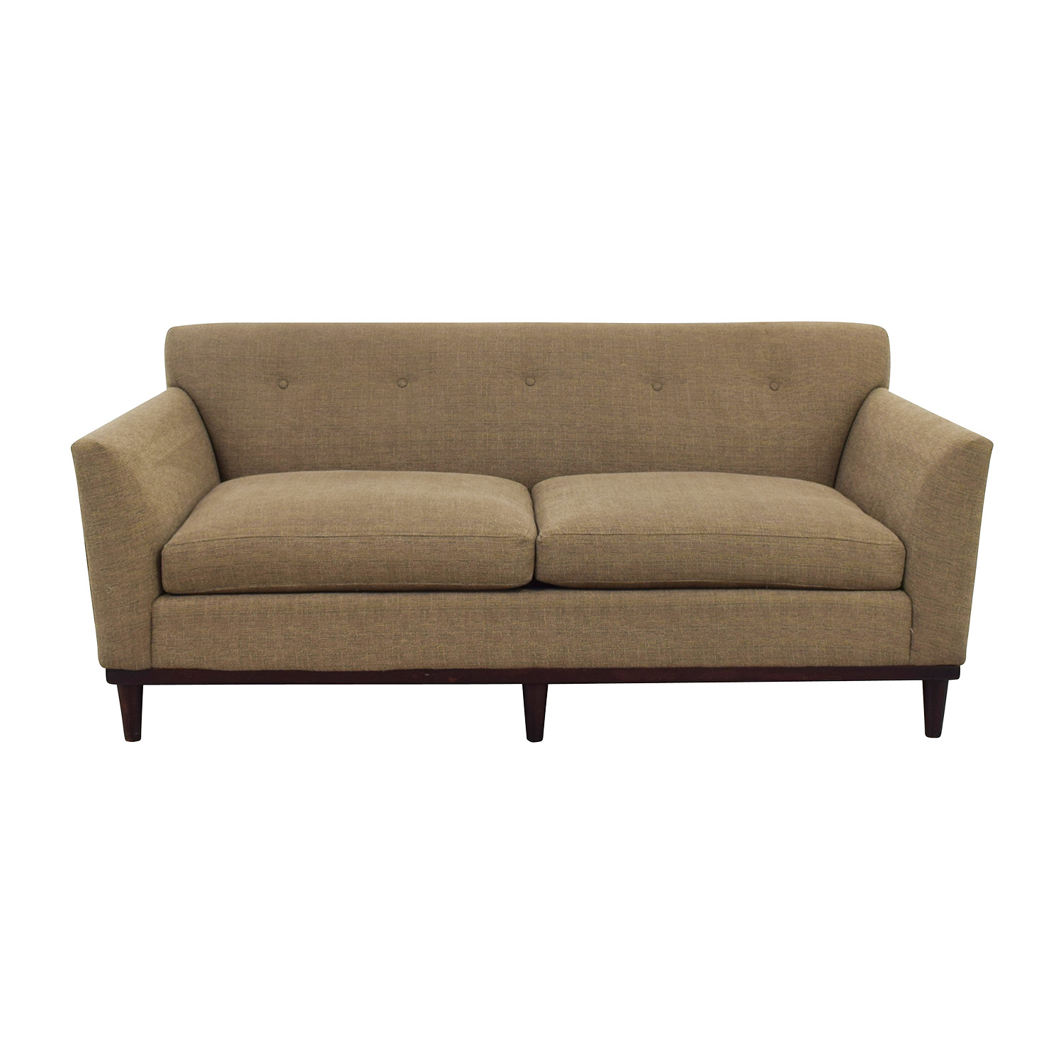 Leather And Tweed Sofa