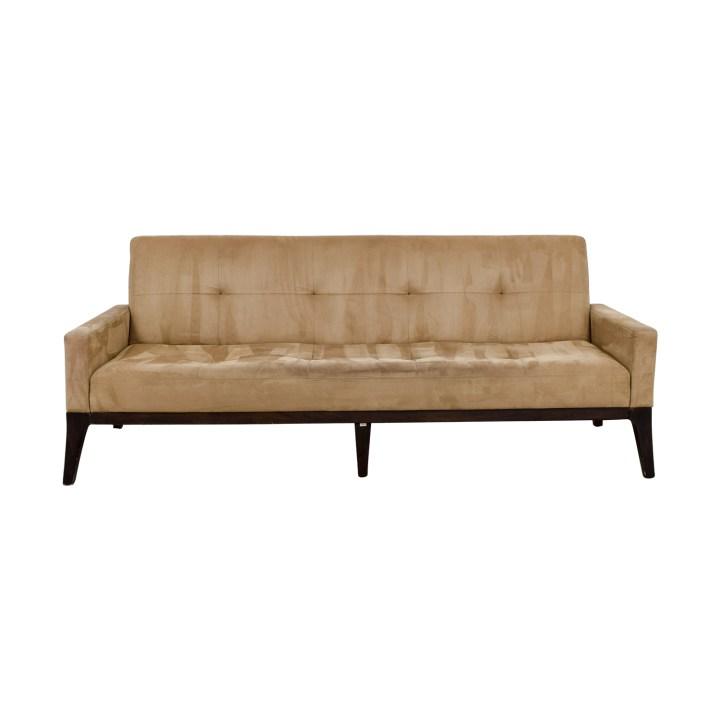 West Elm Mid Century Tan Tufted Sofa Classic Sofas