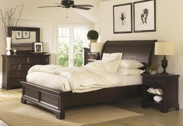 Aspenhome Bayfield King Sleigh Bed with Under Bed Storage Drawers