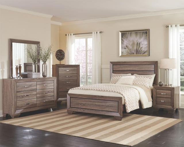 Coaster Kauffman Queen Bed with Panel Design Value City