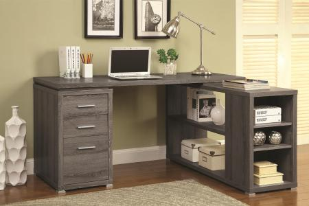 Image result for Coaster Grey L-Shape Writing Desk 800518