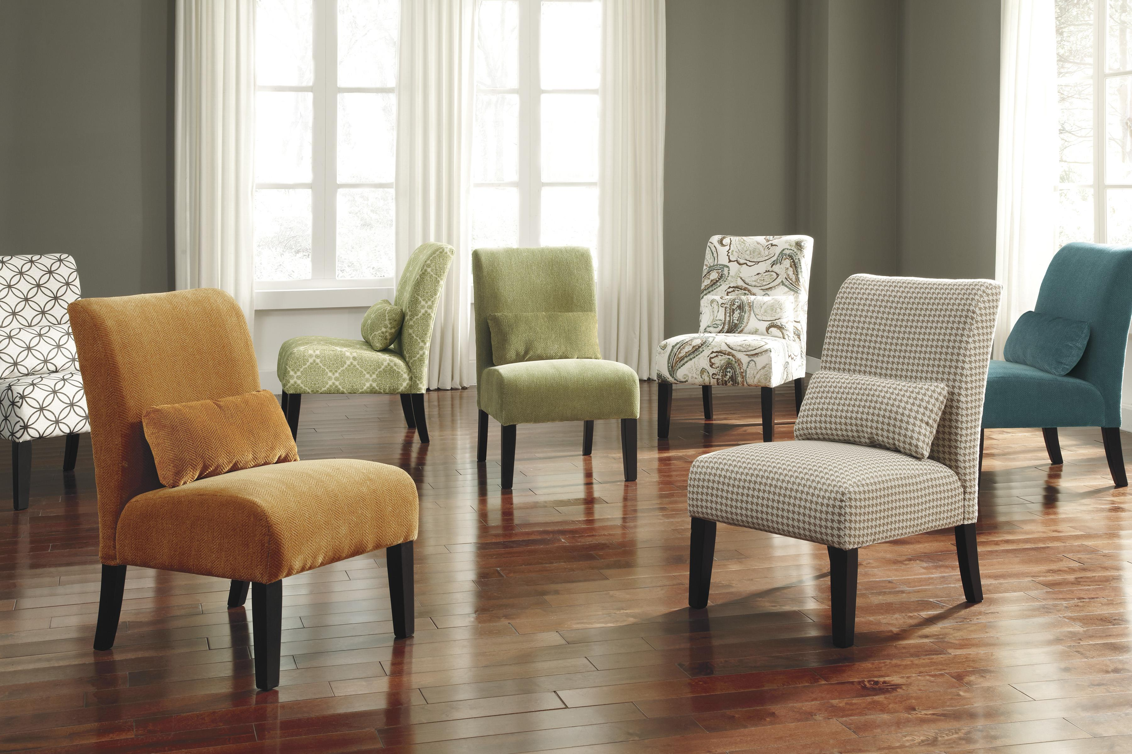 Armless Accent Chairs Living Room