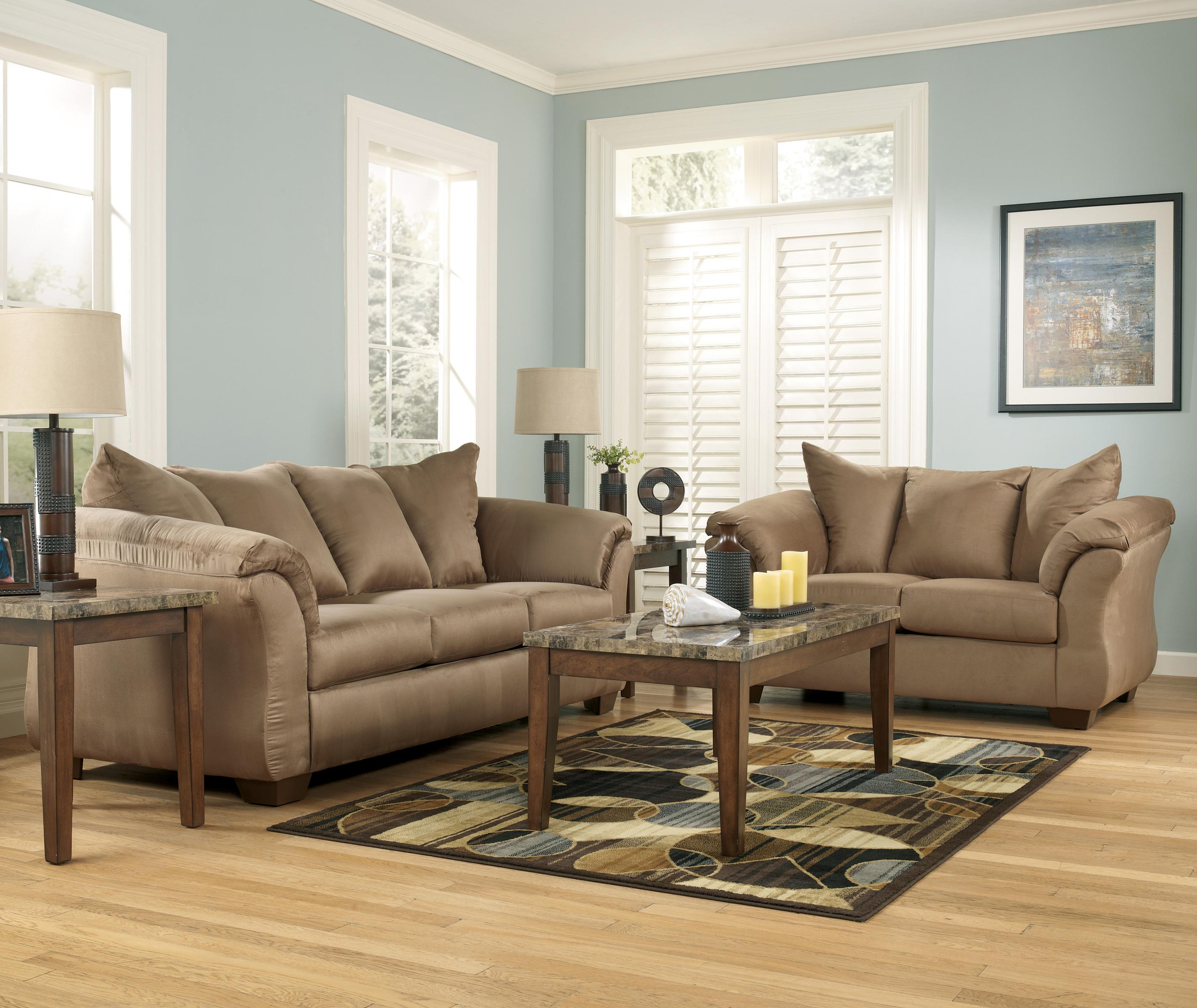 Signature Design By Ashley Darcy Mocha Contemporary Sectional : ashley darcy sectional - Sectionals, Sofas & Couches