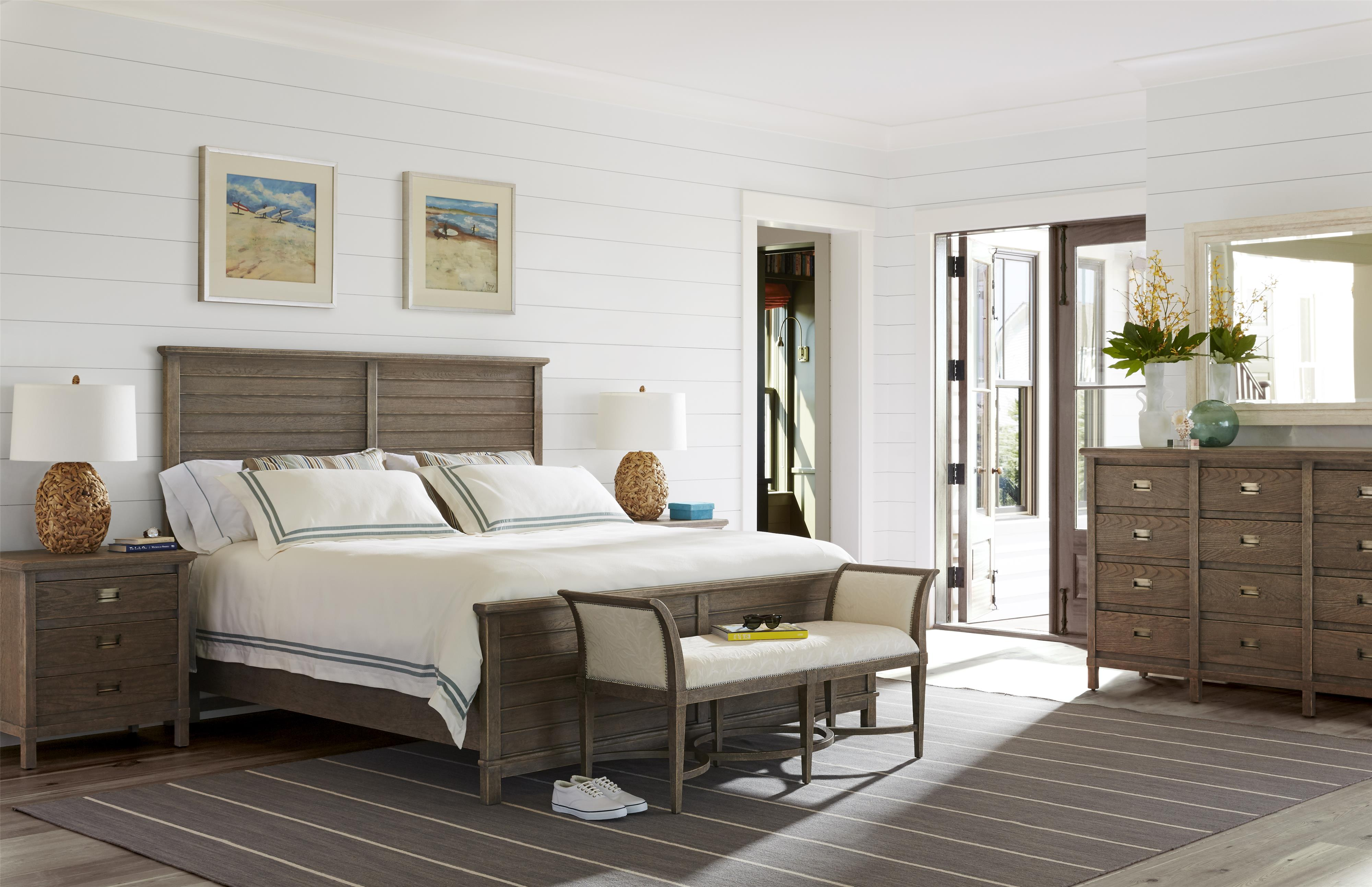 stanley furniture coastal living resort king water meadow woven