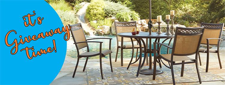 patio set giveaway furniture