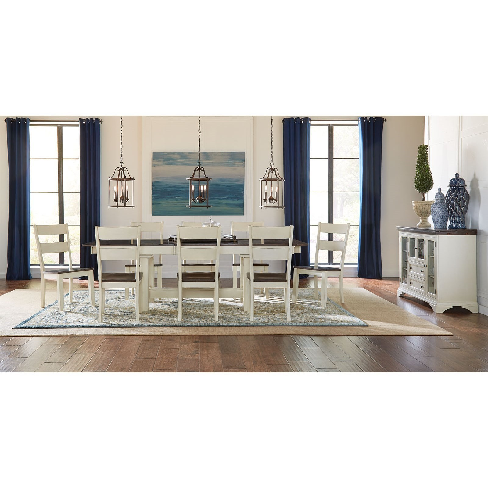 AAmerica Mariposa Trestle Table With 3 Butterfly Storage