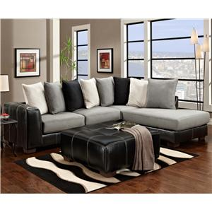 Page 2 of Sectional Sofas   Hamburg  Buffalo  Lackawanna  Eden  NY     Affordable Furniture 6350 Two Piece Sectional