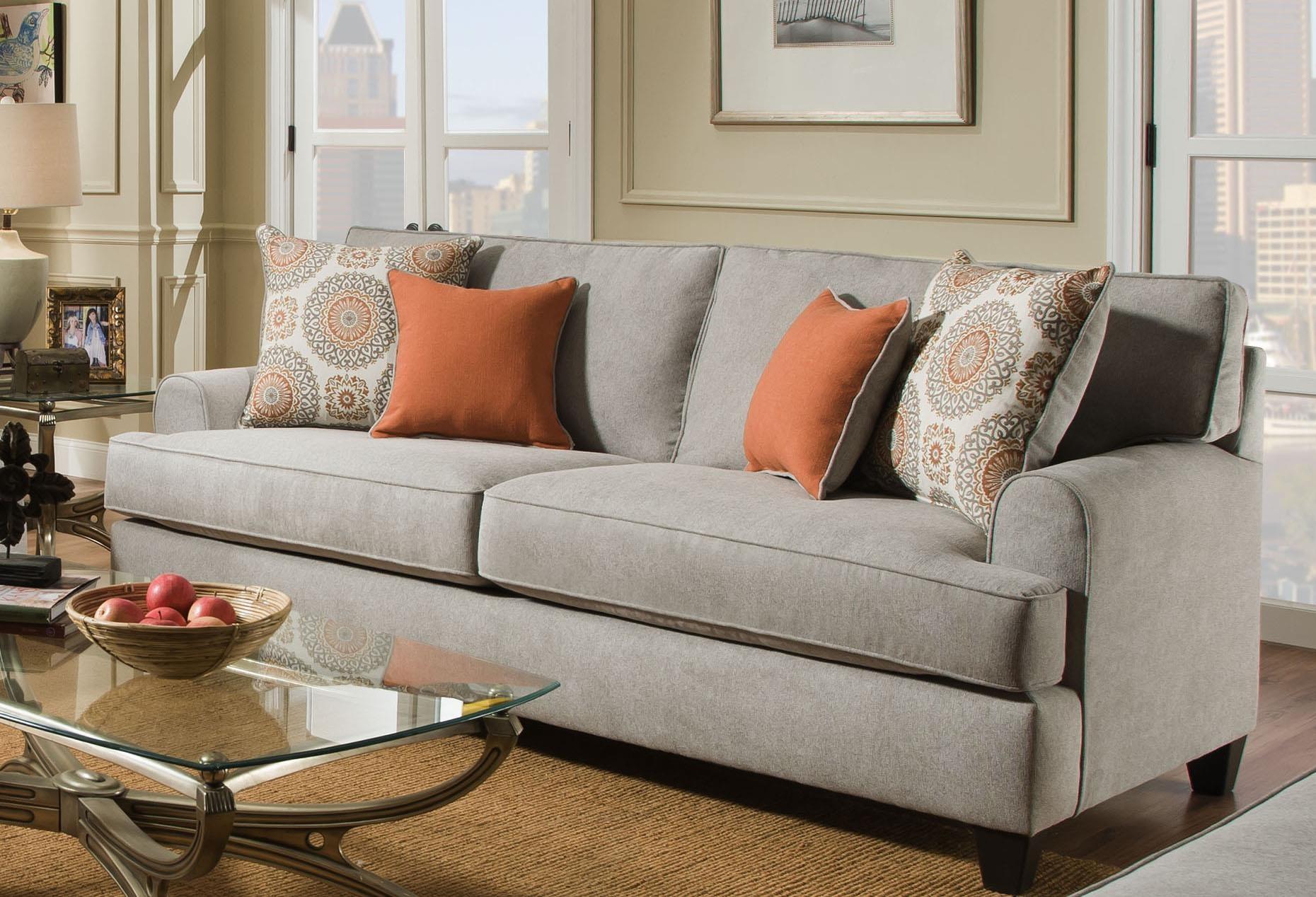 American Furniture Popstitch Dove 1953 2021 Sofa Great