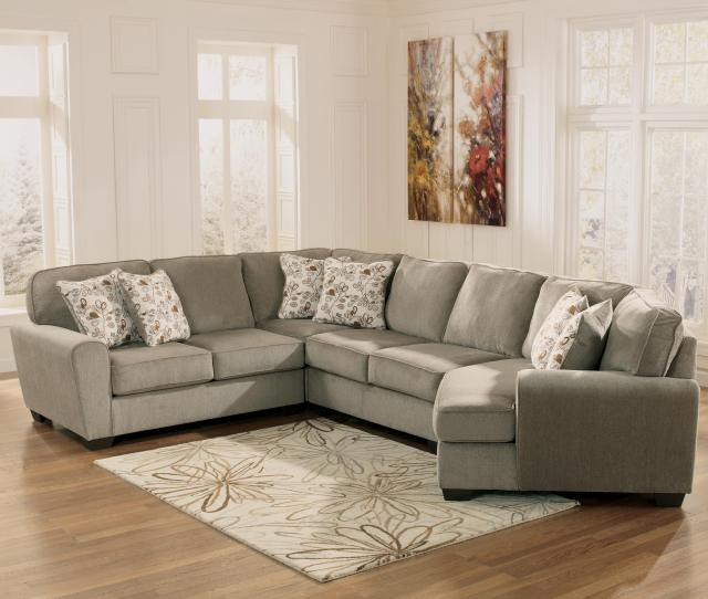 4 Piece Small Sectional With Right Cuddler