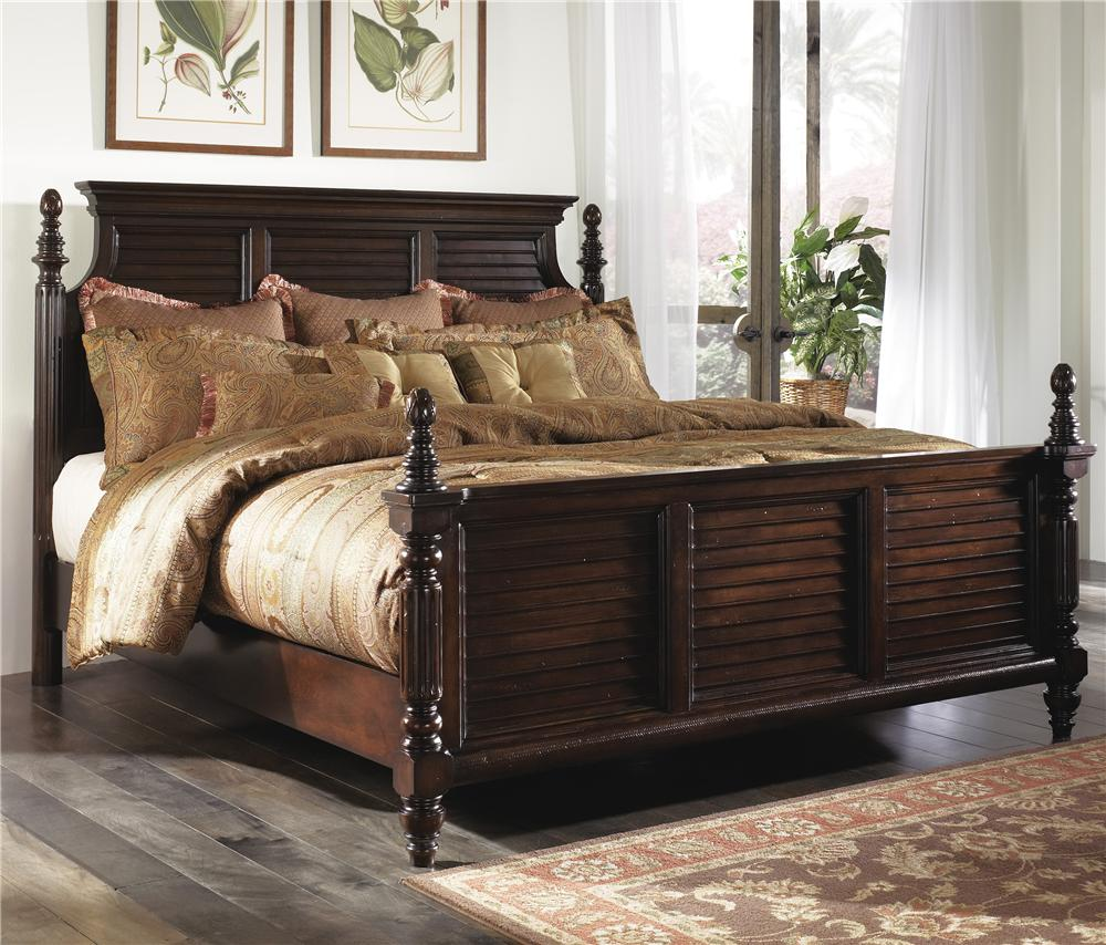 millennium key town king panel headboard & footboard bed - ahfa