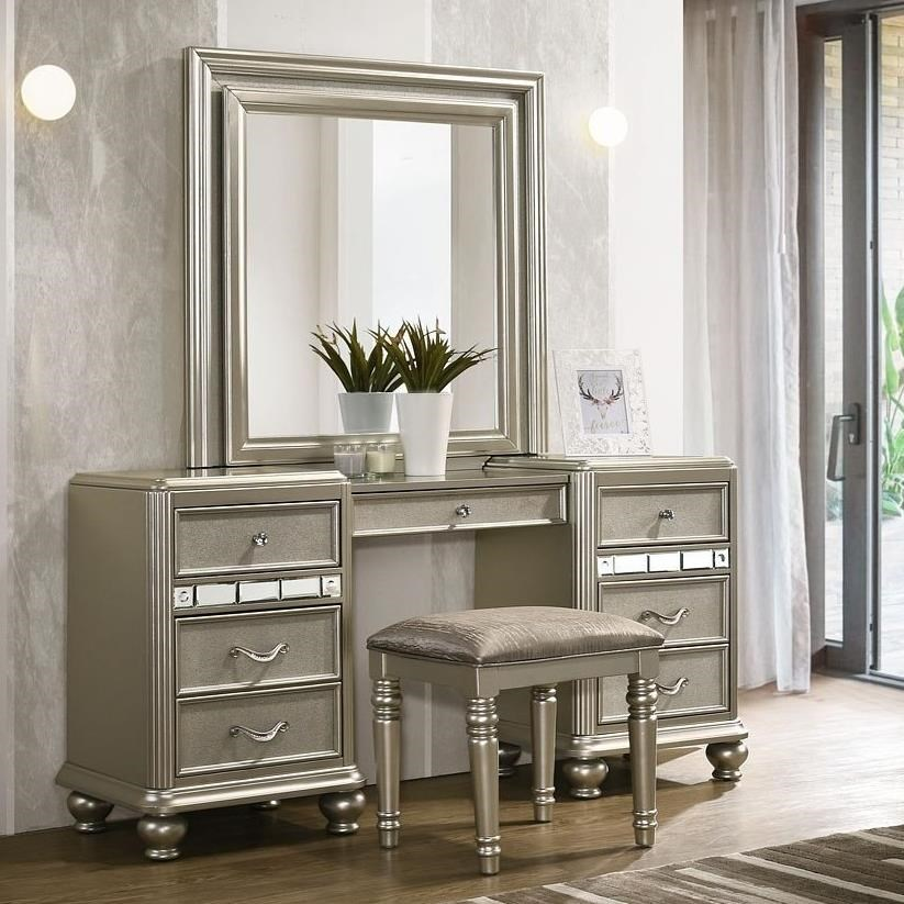 drawer vanity set with led remote