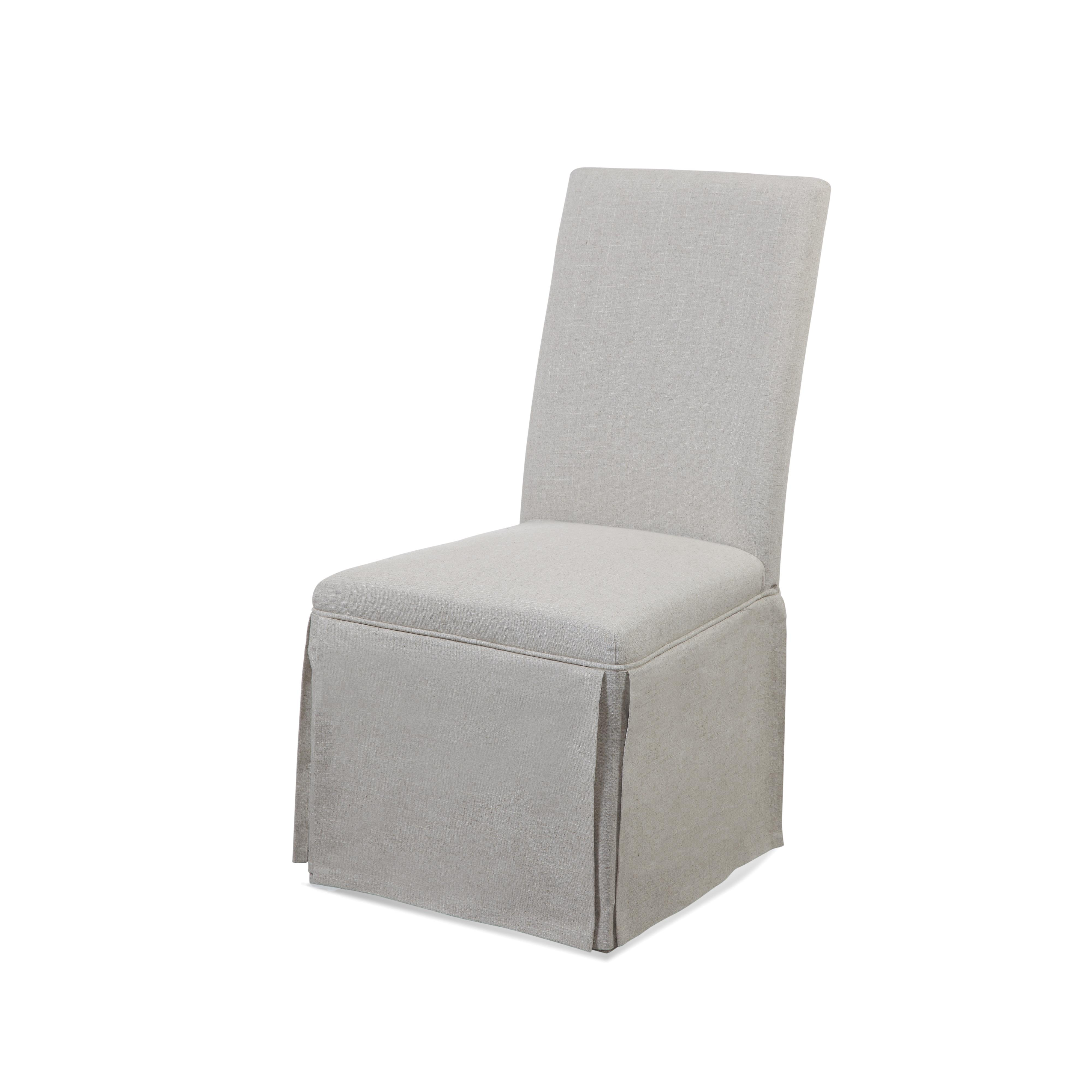 Belgian Luxe Skirted Parsons Chair