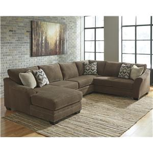 Sectional Sofas   Akron  Cleveland  Canton  Medina  Youngstown  Ohio     Benchcraft Justyna 3 Piece Sectional with Left Chaise