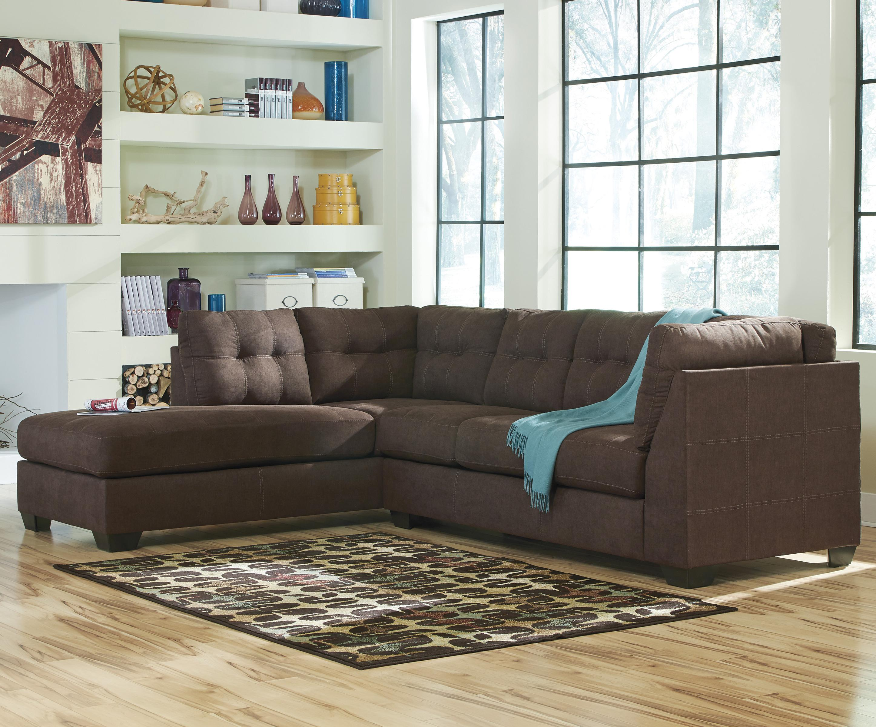 Benchcraft By Ashley Maier Walnut 2 Piece Sectional With
