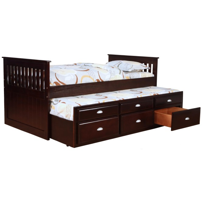 Bernards Logan Captain S Bed With Trundle And Storage Item Number 3040v