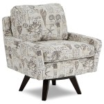Best Home Furnishings Seymour Mid Century Modern Chair With Swivel Base Turk Furniture Upholstered Chairs