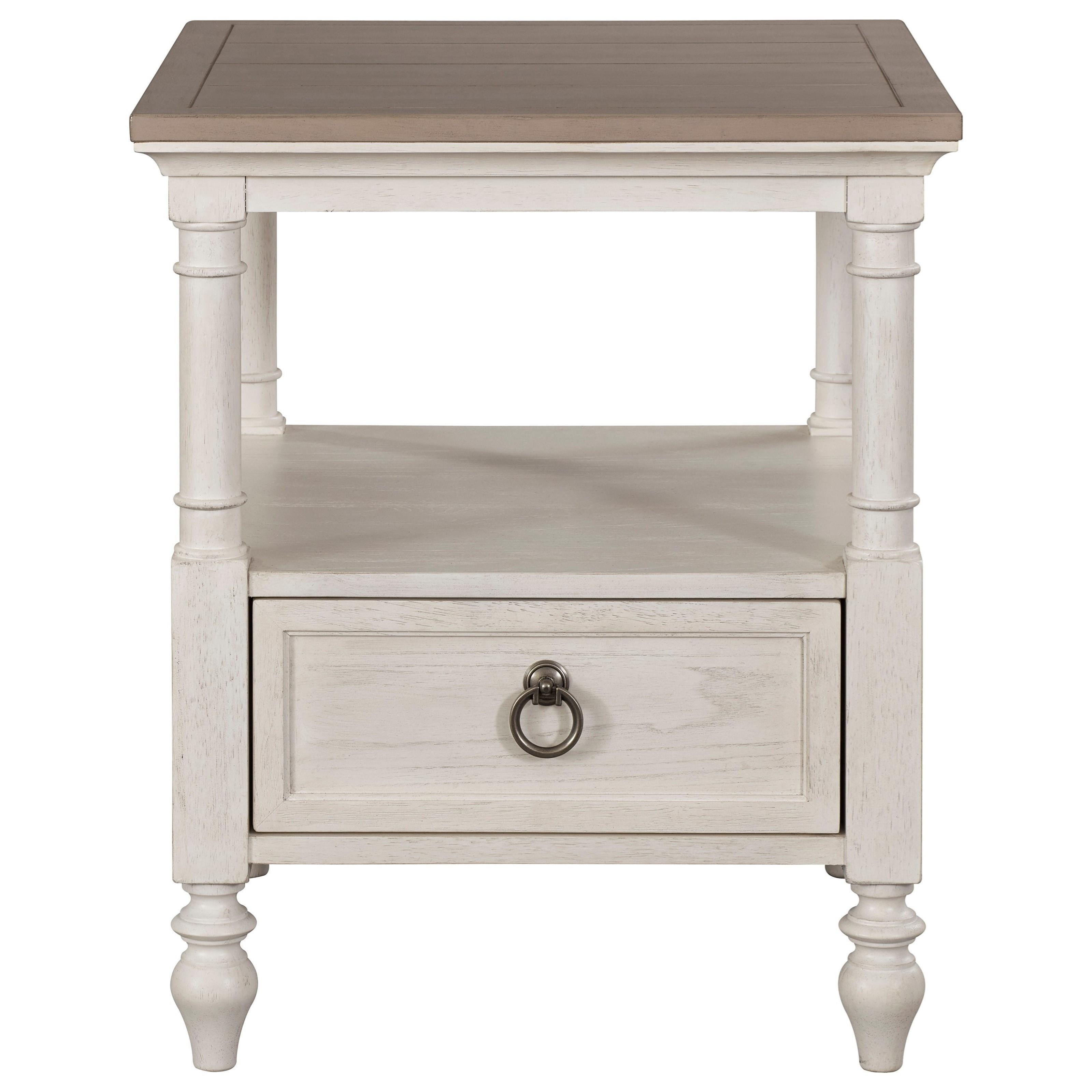 Broyhill Furniture Ashgrove 4547 002WH PU Transitional 1