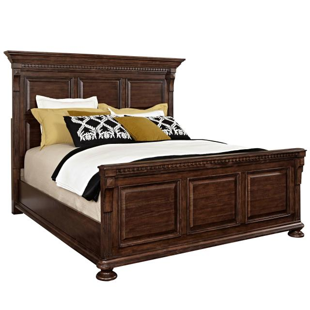 Broyhill Furniture Lyla Queen Panel Bed with Bun Feet Wayside