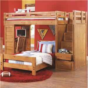 canyon creekside twin twin loft bed w