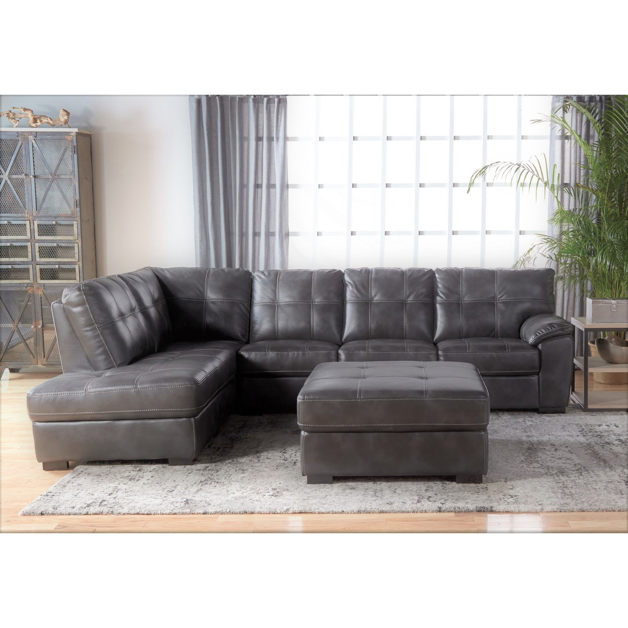 5312 tufted sectional with bumper chaise
