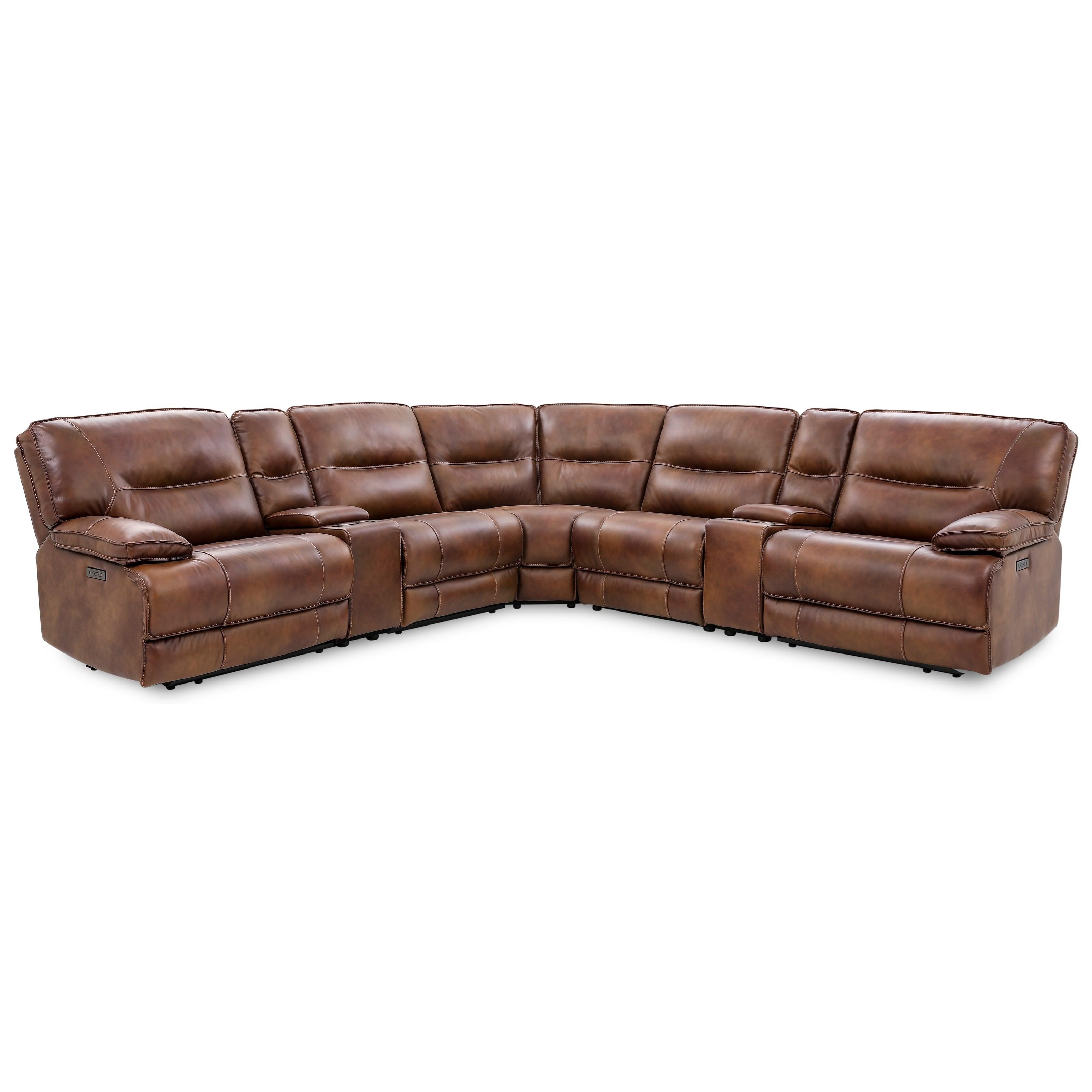 70048 6 piece power reclining sectional