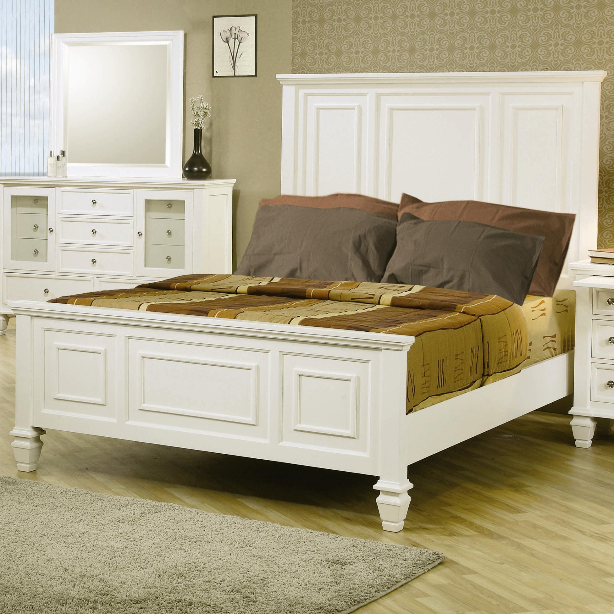 Coaster Sandy Beach Classic Queen High Headboard Bed A1 Furniture Mattress Panel Beds
