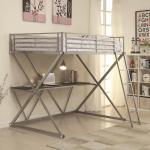 Coaster Bunks Full Workstation Loft Bed With Desk A1 Furniture Mattress Bunk Beds