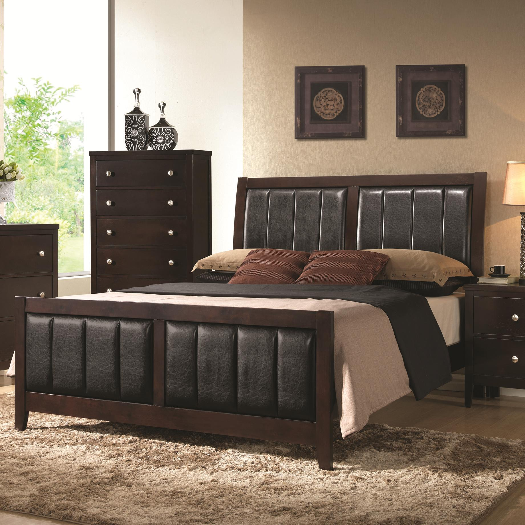 carlton queen bed