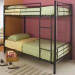 Coaster Denley Metal Twin Over Twin Bunk Bed A1 Furniture Mattress Bunk Beds