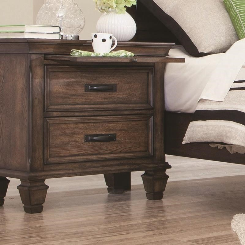 Coaster Franco 200972 2 Drawer Nightstand With Pull Out