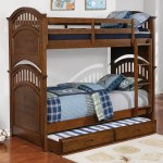 Coaster Halsted Casual Wooden Twin Over Twin Bunk Bed With Walnut Finish A1 Furniture Mattress Bunk Beds