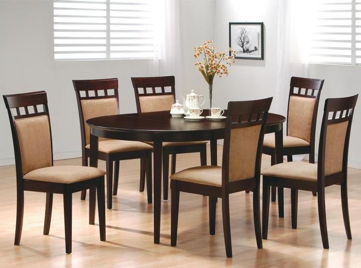 coaster mix & match 7 piece dining set | dunk & bright furniture