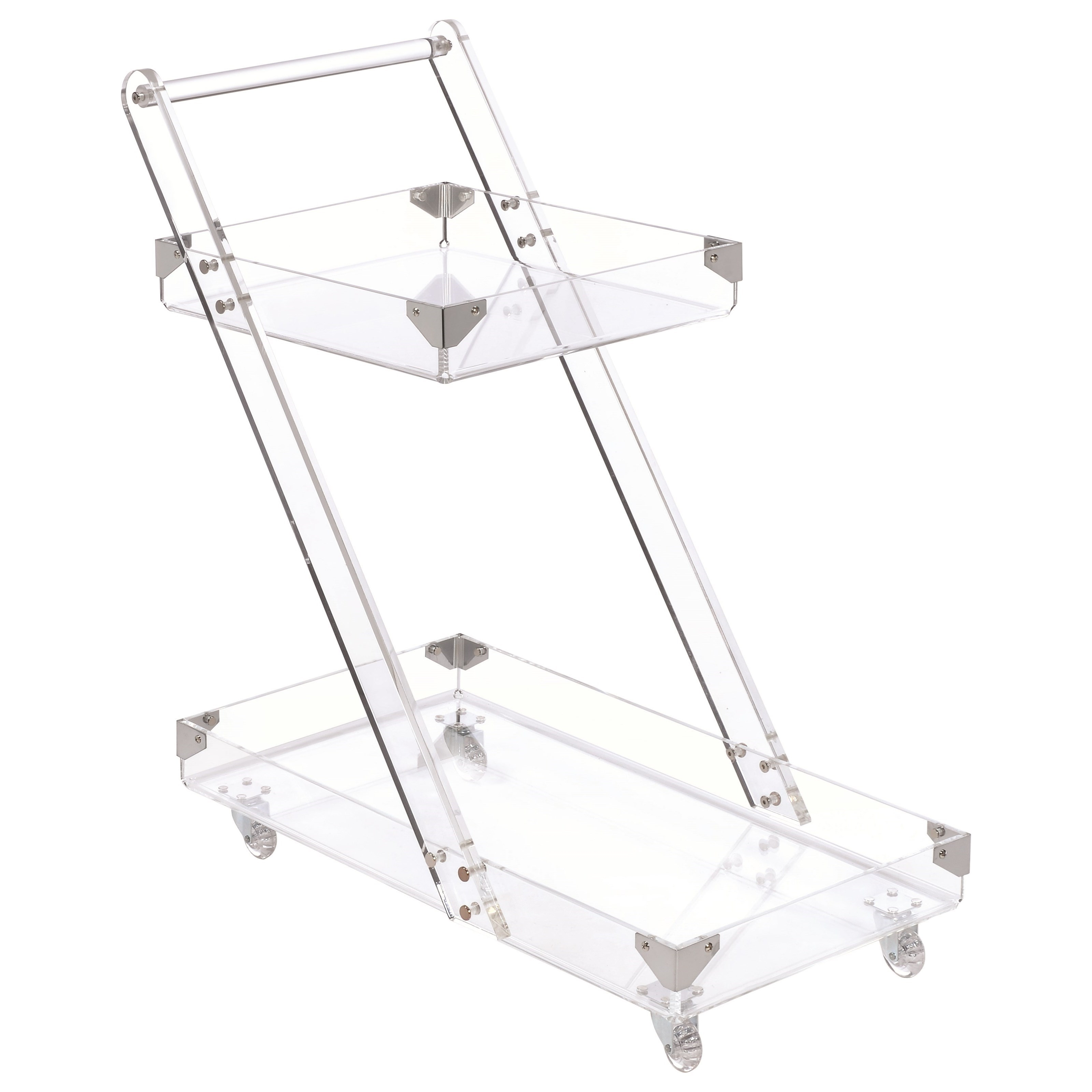 Fine Furniture Kitchen Carts Modern Clear Acrylic