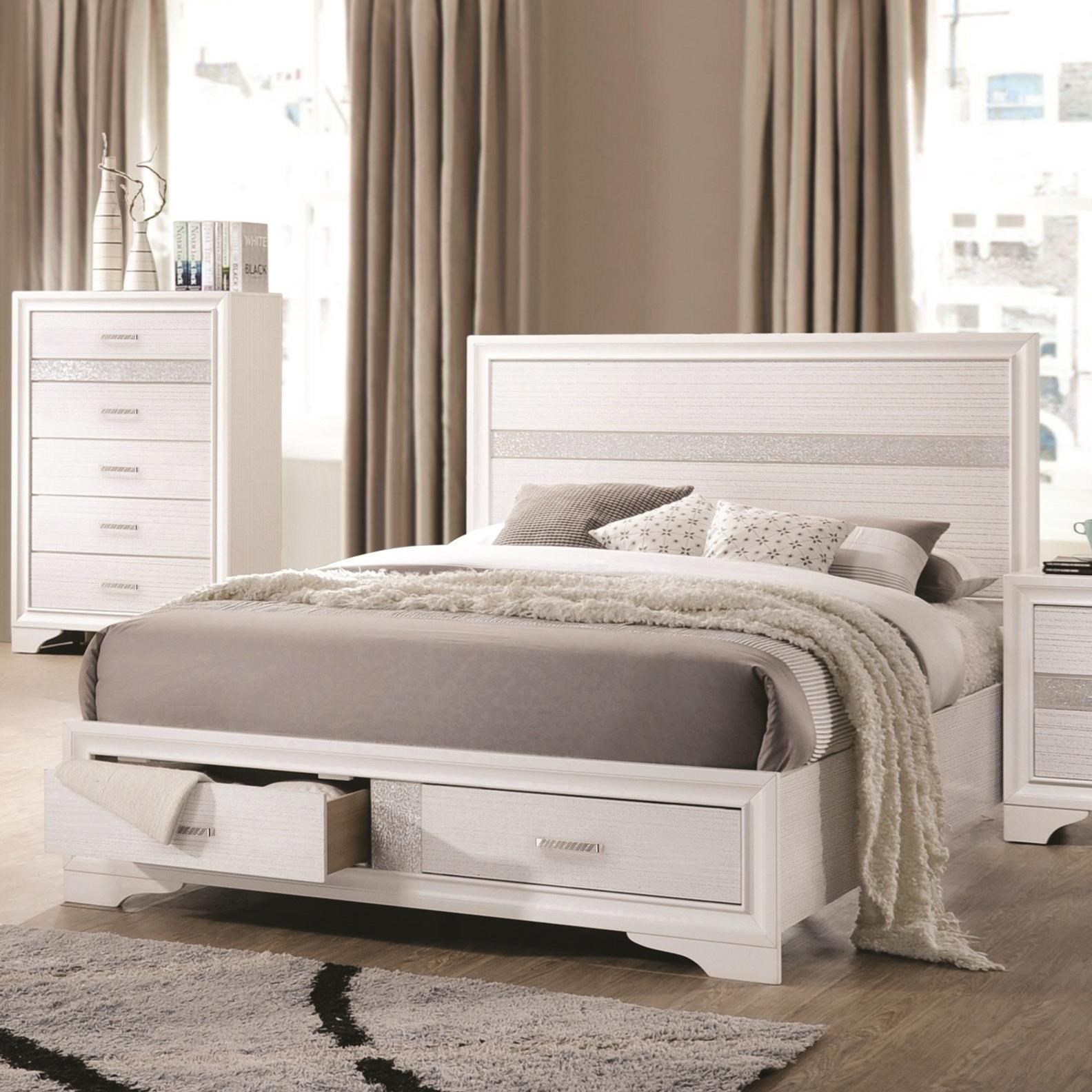 Coaster Miranda Queen Storage Bed With 2 Dovetail Drawers