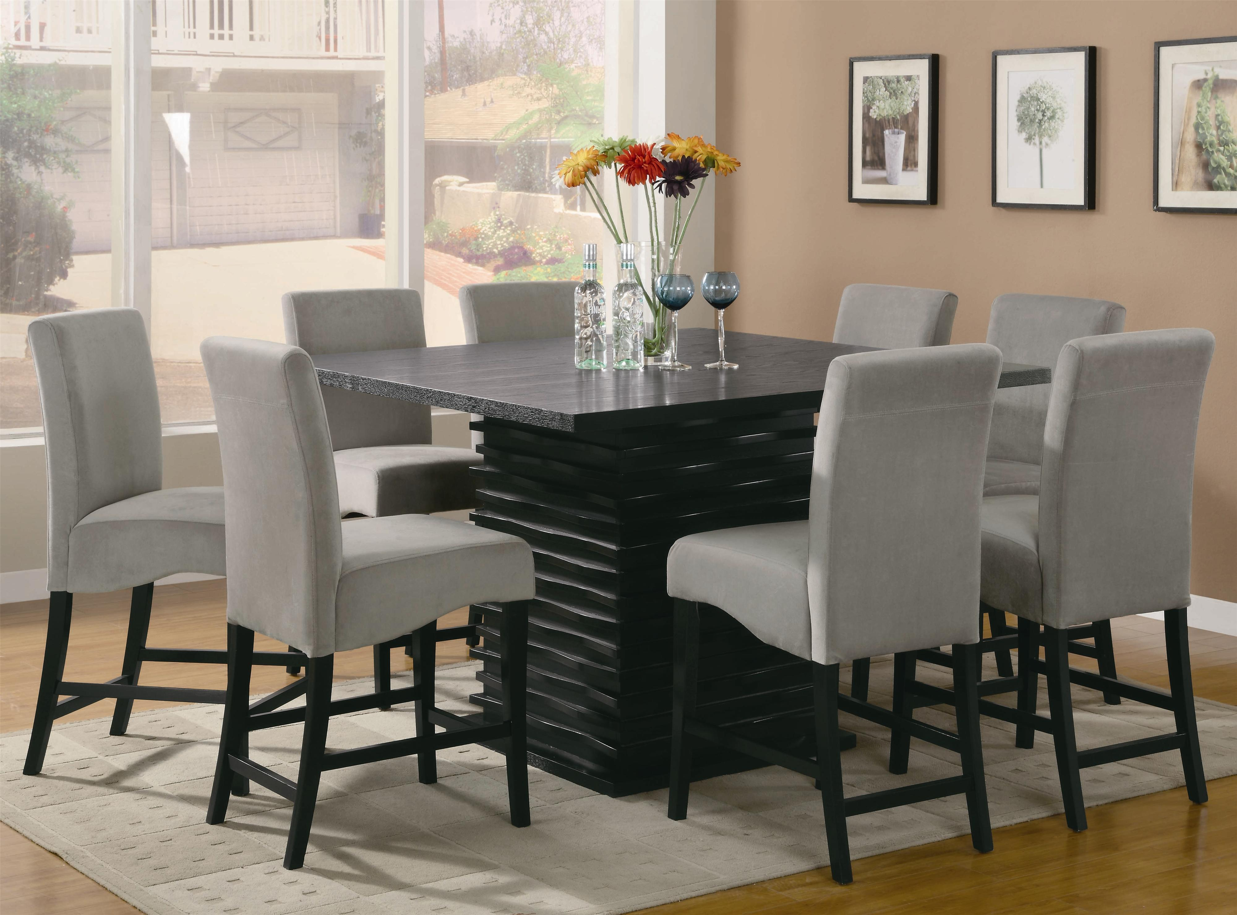 Coaster Stanton 9 Piece Table And Chair Set Standard Furniture Pub Table And Stool Sets