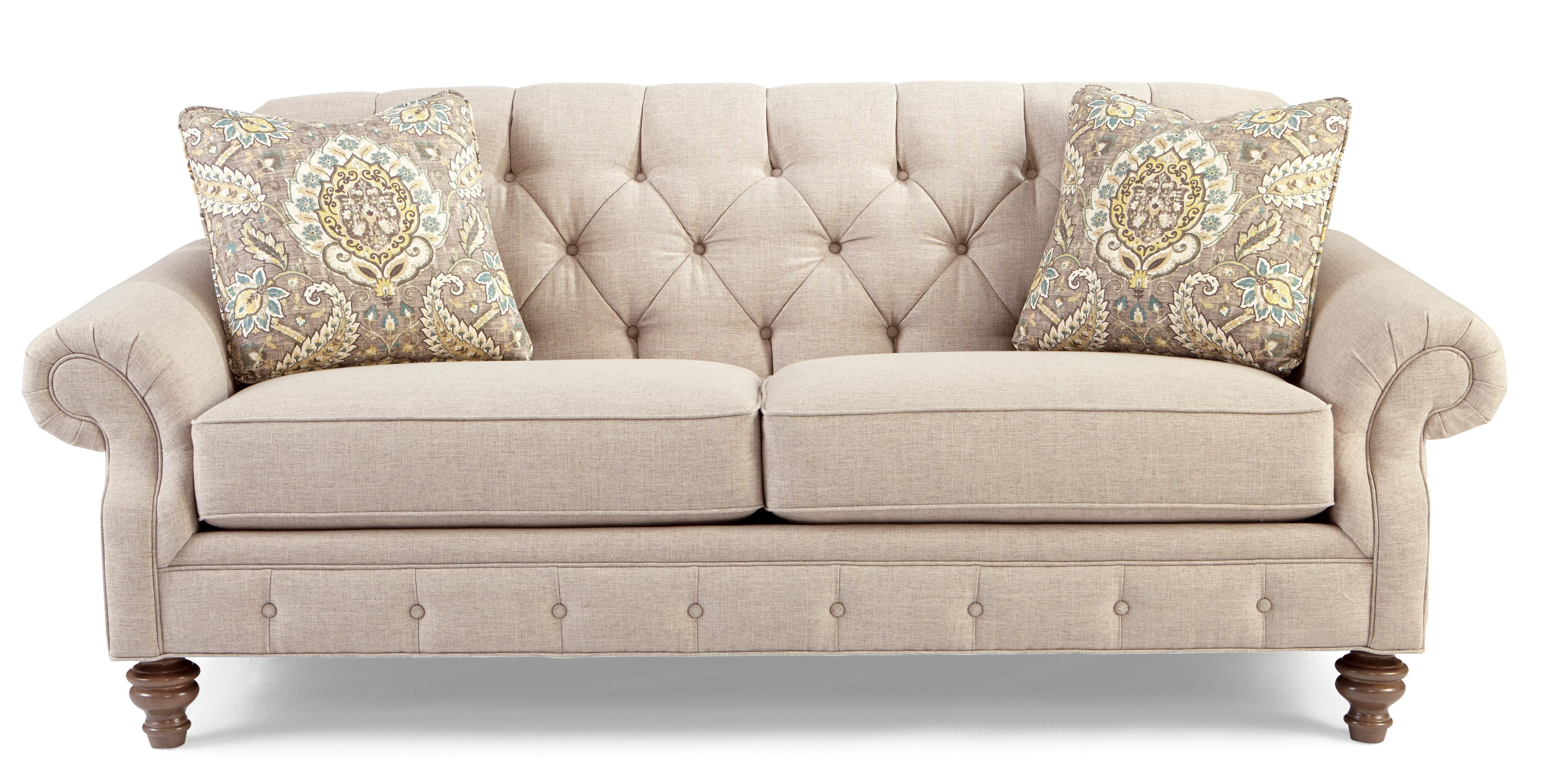 Craftmaster 7463 746350 Traditional Button Tufted Sofa