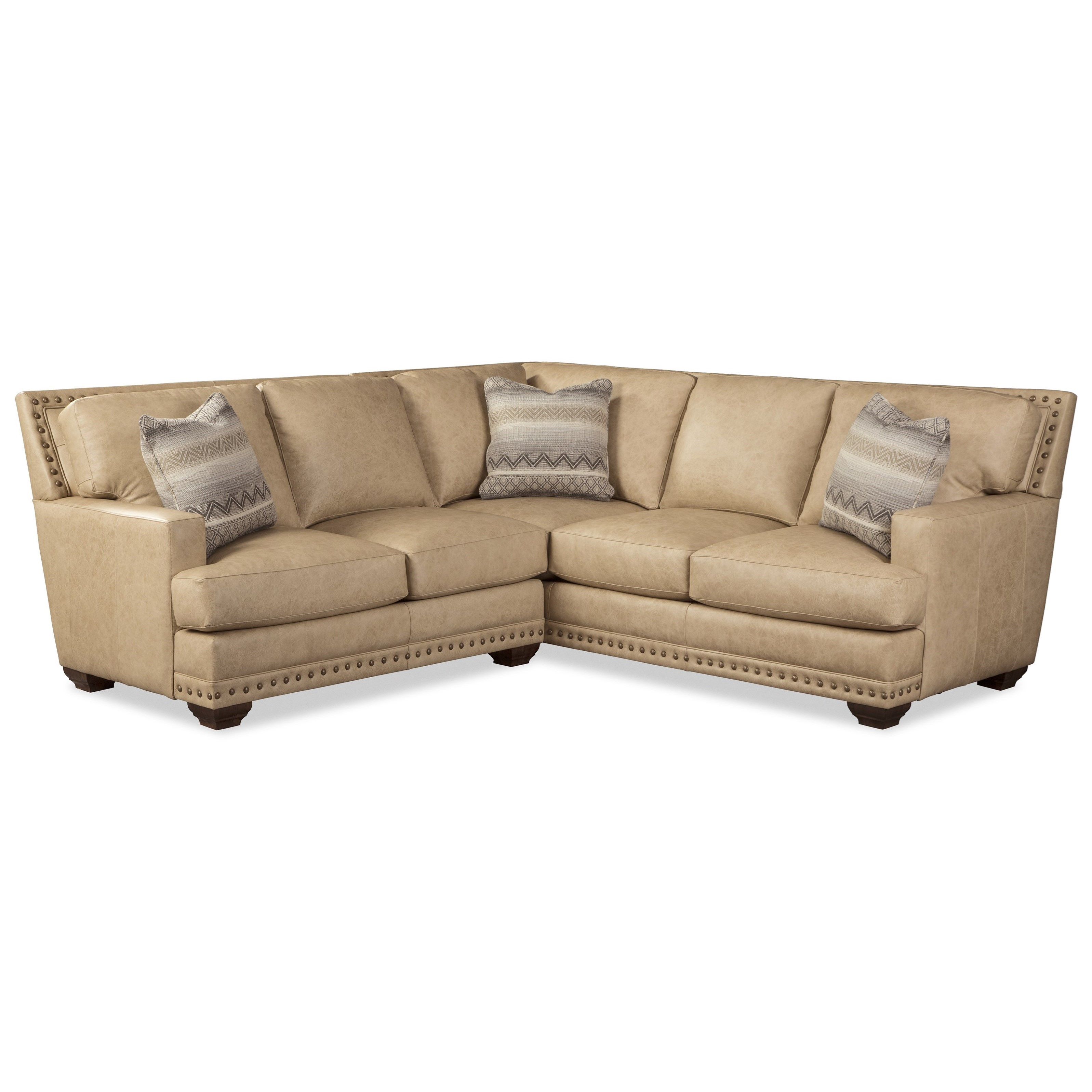 4 seat leather sectional sofa