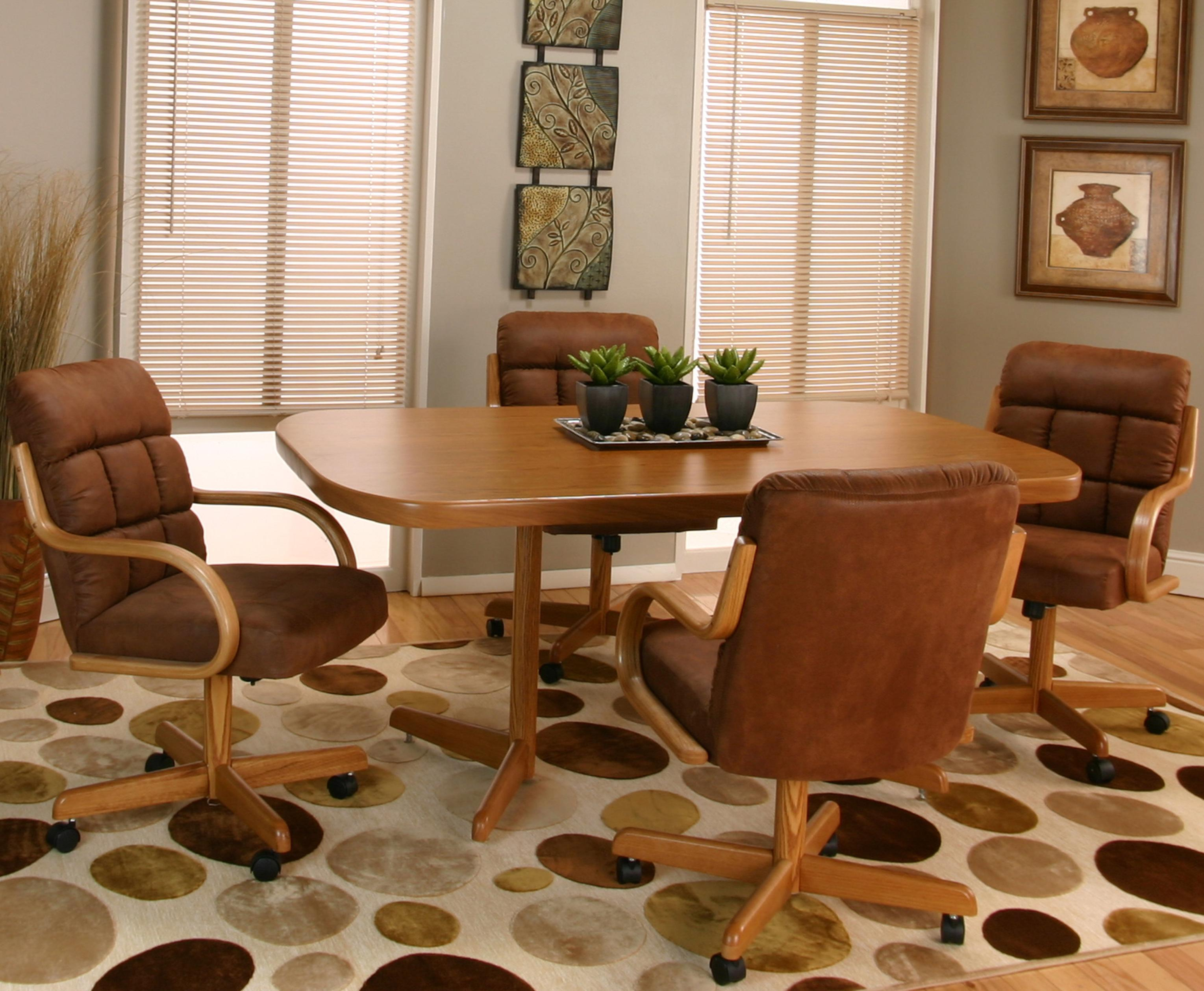 Cramco Inc Cramco Motion Atwood Bow End Table W 4 Swivel Chairs Value City Furniture Dining 5 Piece Set