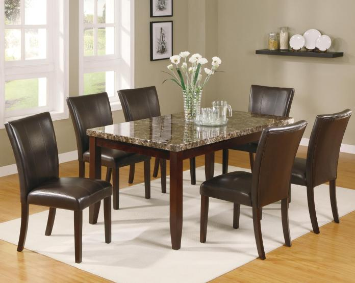 Crown Mark Ferrara 7 Piece Dining Table And Chairs Set Wayside Furniture Dining 7 Or More Piece Sets