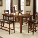 Crown Mark Figaro 6 Piece Counter Height Table And Chairs Set With Bench Royal Furniture Table Chair Set With Bench