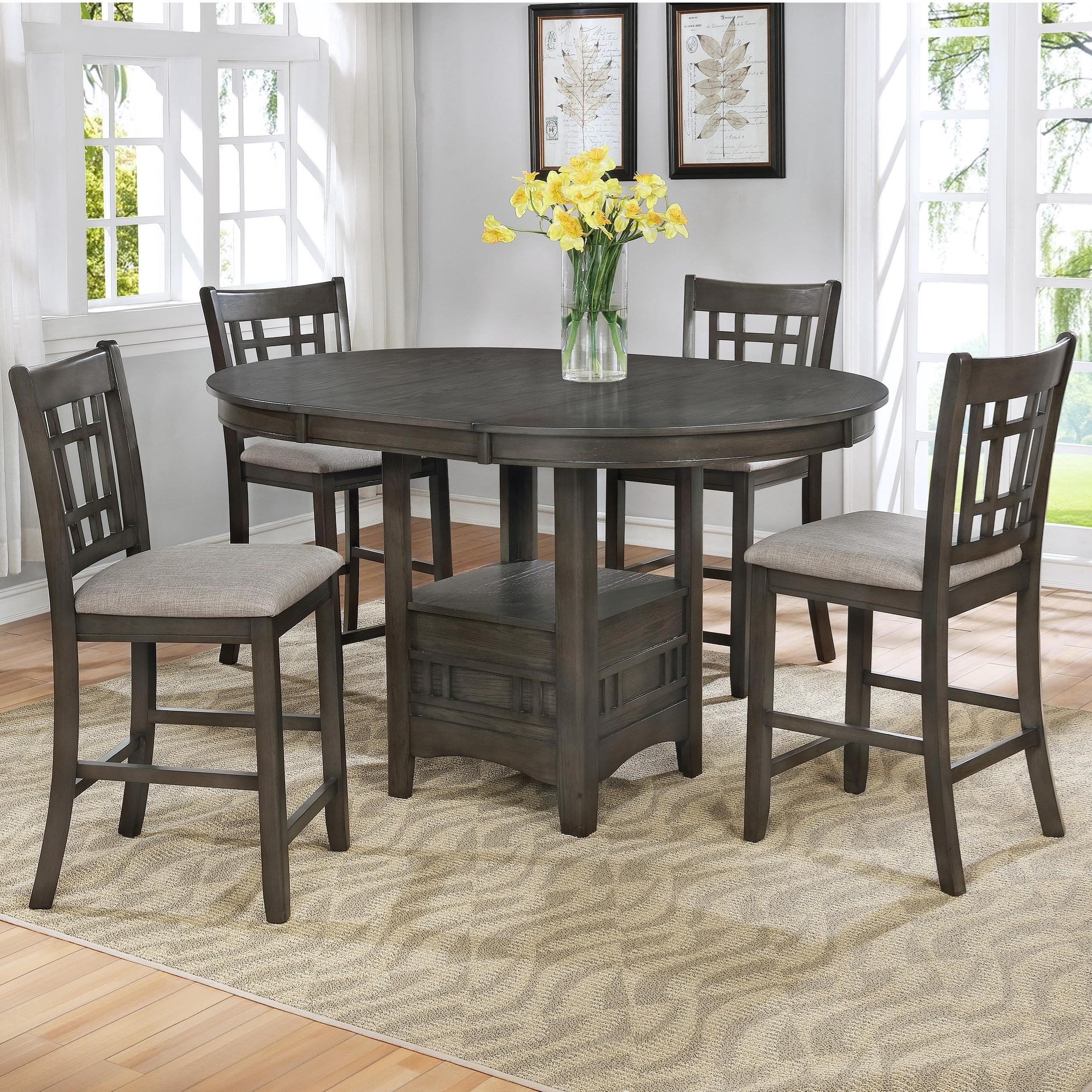 Crown Mark Hartwell Transitional Five Piece Pub Table Set