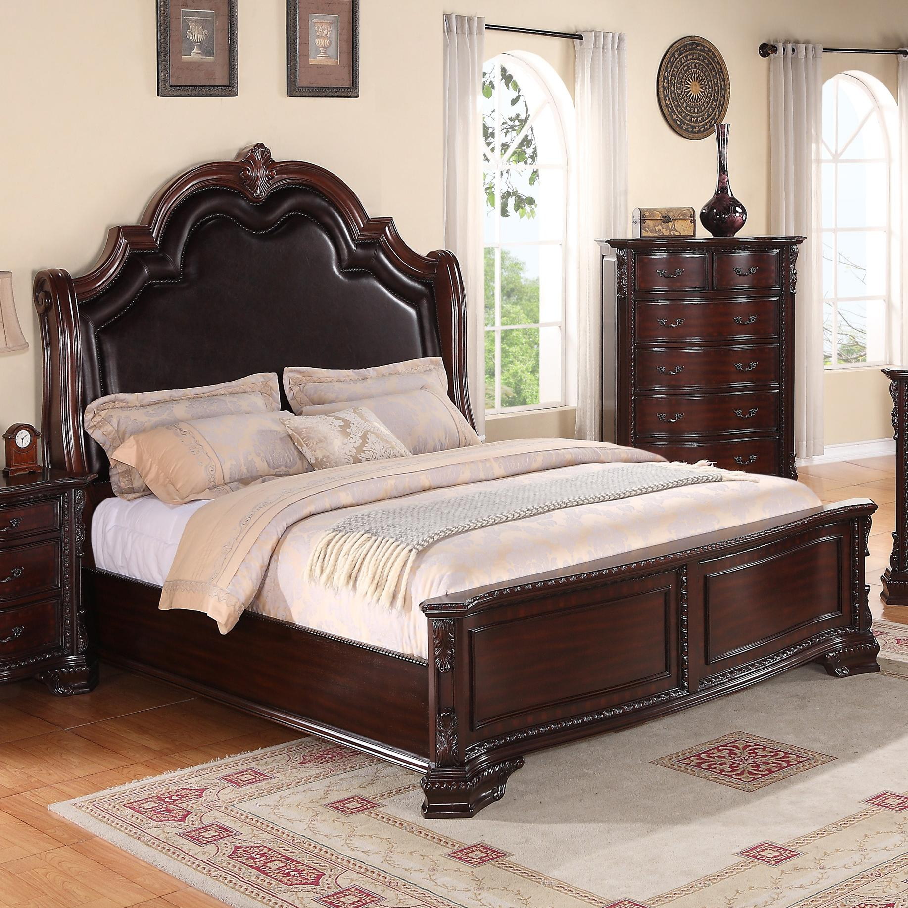 Crown Mark Sheffield California King Panel Bed With