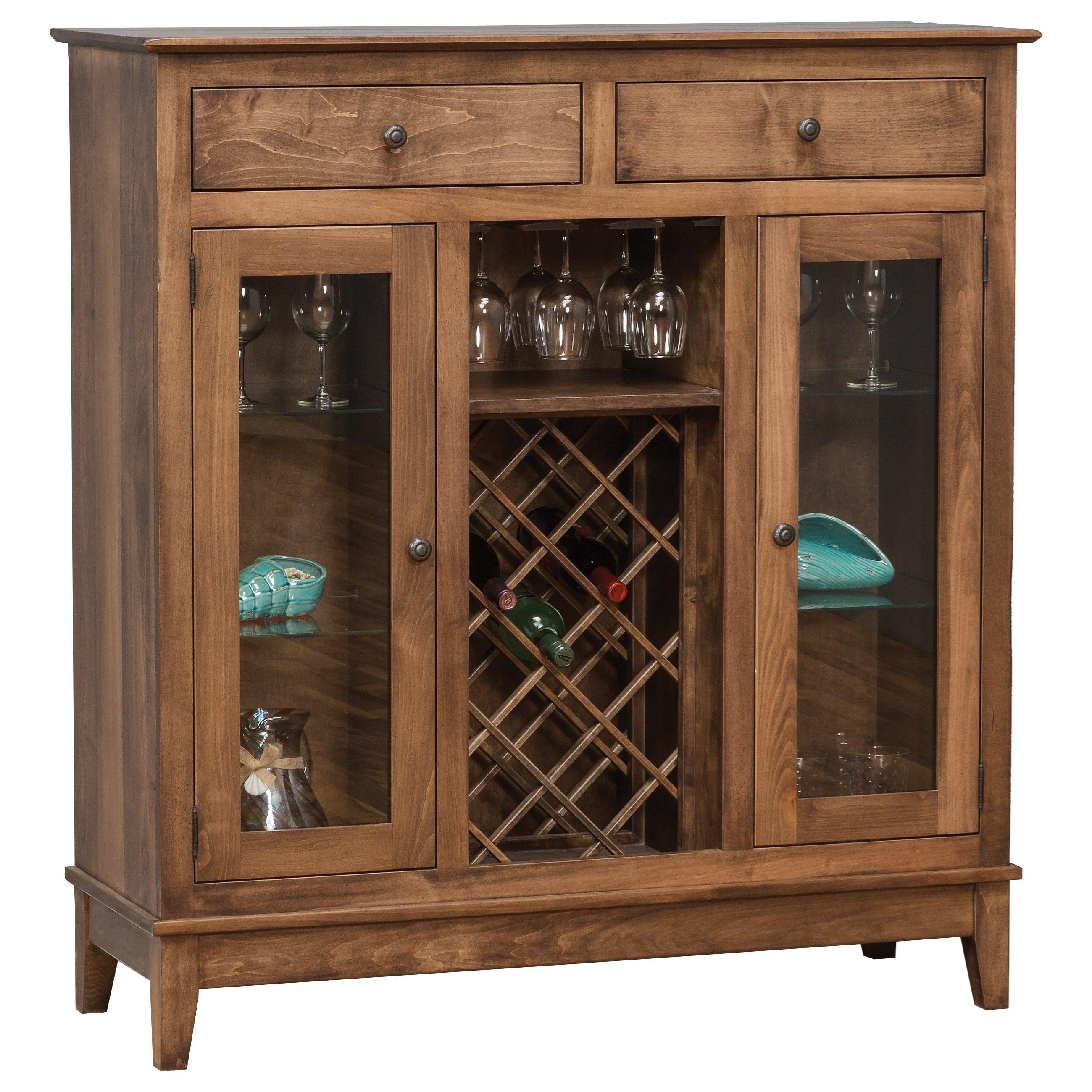 Daniels Amish Dining Storage 25 1822 Shaker Wine Cabinet