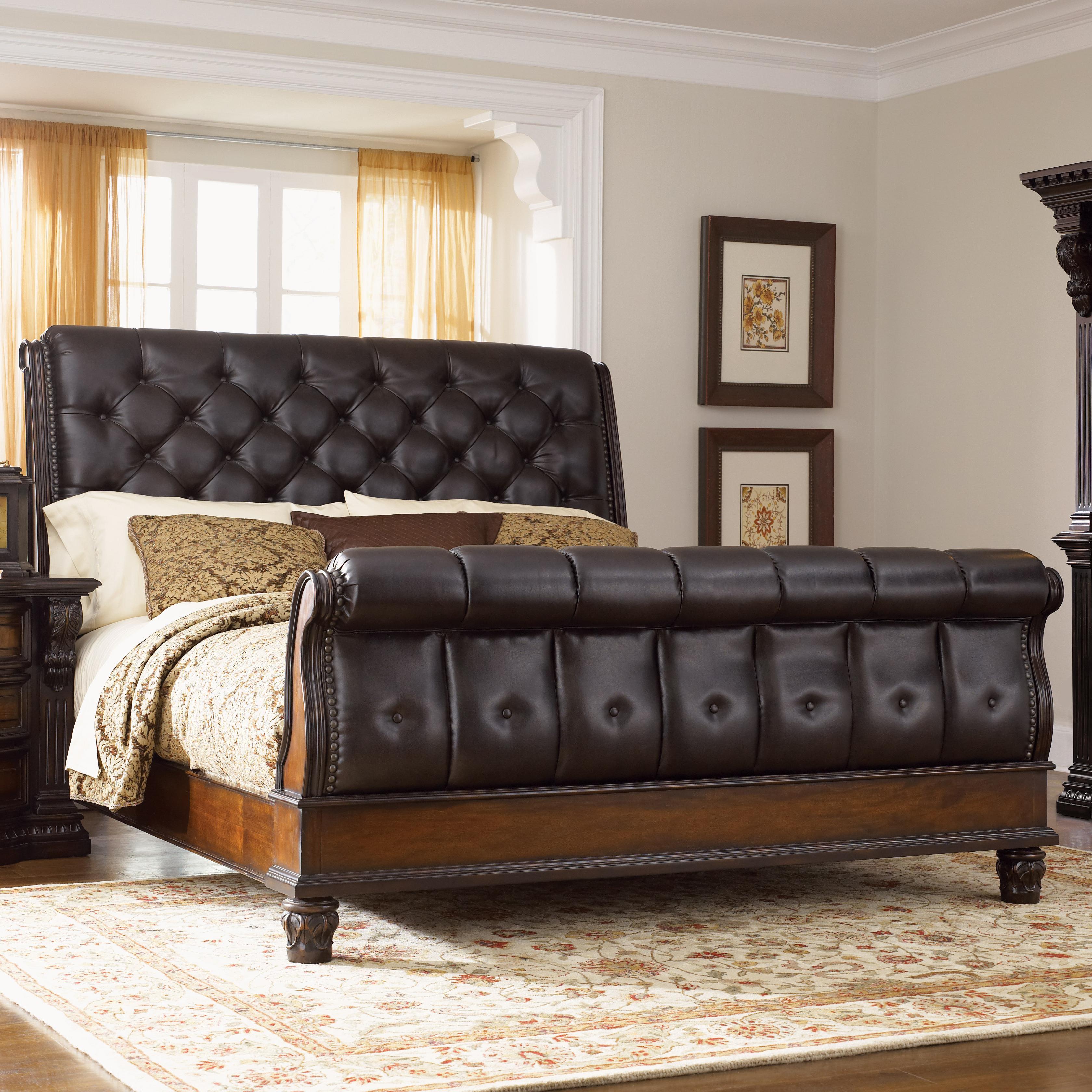 grand estates queen sleigh bed