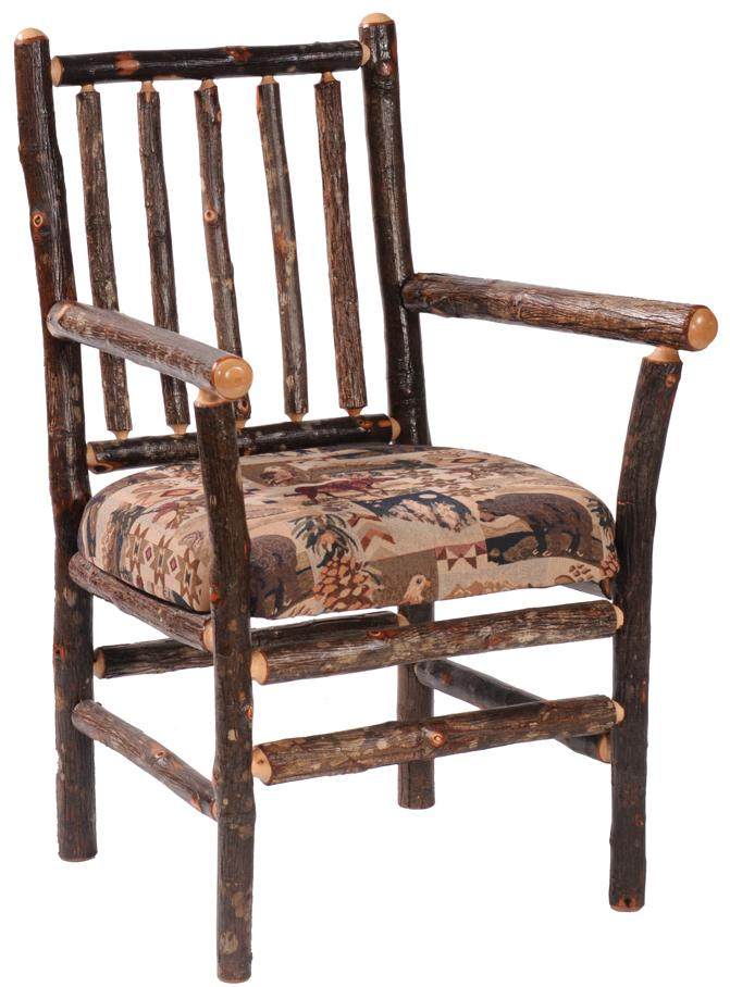 Fireside Lodge Hickory Spoke Back Arm Chair Conlins
